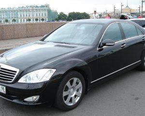 Аренда Mercedes 221 LONG  черный на свадьбу в Санкт-Петербурге