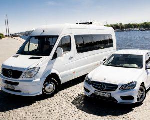 Аренда Mercedes 212 + Sprinter на свадьбу в Санкт-Петербурге