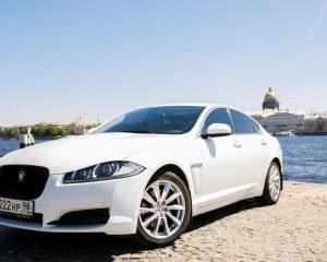 Аренда Jaguar XF restyling на свадьбу в Санкт-Петербурге