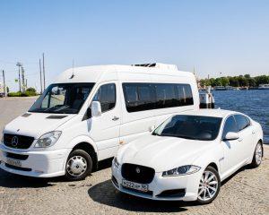 Аренда Jaguar XF + Sprinter на свадьбу в Санкт-Петербурге