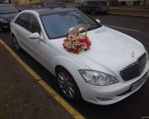Аренда Mercedes 221 Белый на свадьбу в Санкт-Петербурге