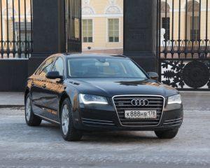 Аренда Audi А8 черный на свадьбу в Санкт-Петербурге