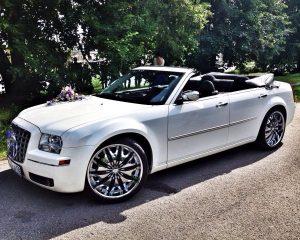 Аренда Chrysler 300с кабриолет на свадьбу в Санкт-Петербурге
