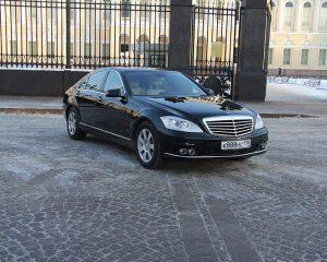 Аренда Mercedes 221 рестайлинг LONG черный на свадьбу в Санкт-Петербурге