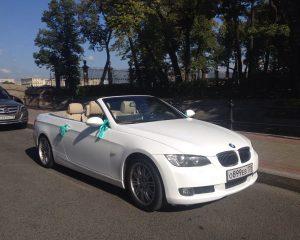 Аренда BMW 3 кабриолет(светлый салон) на свадьбу в Санкт-Петербурге