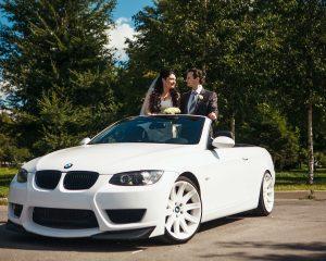 Аренда BMW 3 кабриолет на свадьбу в Санкт-Петербурге