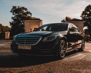 Аренда Mercedes 222 AMG Long черный рестайлинг на свадьбу в Санкт-Петербурге