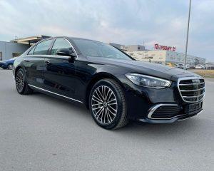 Аренда Mercedes 223 черный на свадьбу в Санкт-Петербурге